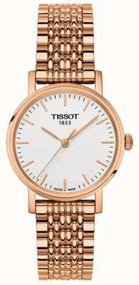 Tissot Womens everytime rose vergulde grijze wijzerplaat T1092103303100