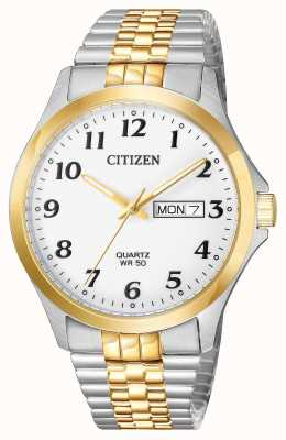 Citizen Mens quartz two tone roestvrijstalen expanderende armband datum BF5004-93A