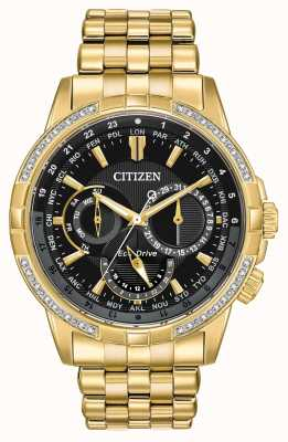 Citizen Mens calendrier eco-drive vergulde 32 diamanten BU2082-56E
