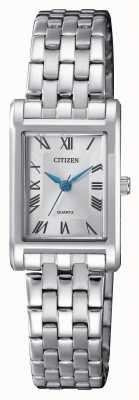 Citizen Kwarts zilveren wijzerplaat armband EJ6120-54A