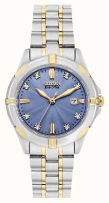 Citizen Womens eco-drive two tone sport diamant grijze wijzerplaat EW1936-53L