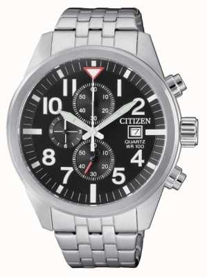 Citizen Mens quartz roestvrij staal chronograph 100m waterbestendig AN3620-51E