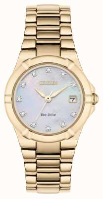 Citizen Womens eco-drive diamanten wijzerplaat rose verguld EW1533-50D
