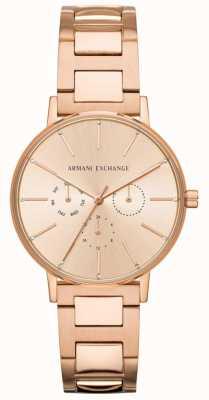 Armani Exchange Lola dames roségoud pvd verguld AX5552