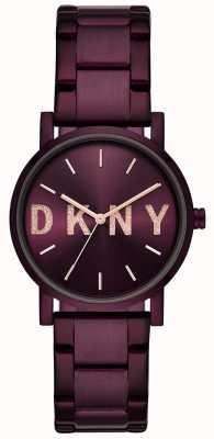 DKNY Soho dames paarse pvd vergulde armband NY2766