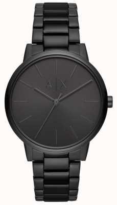 Armani Exchange Cayde heren zwart pvd vergulde armband AX2701