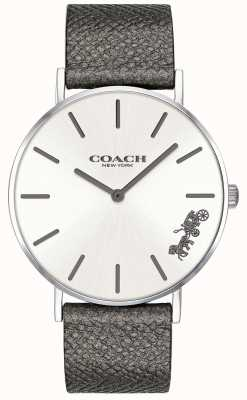 Coach Horloge in leerachtig grijs lederen bandje van de vrouw 14503155
