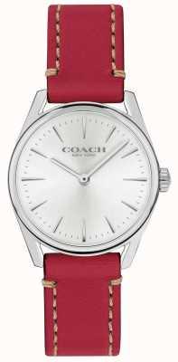 Coach Dames moderne luxe rode lederen band horloge 14503205