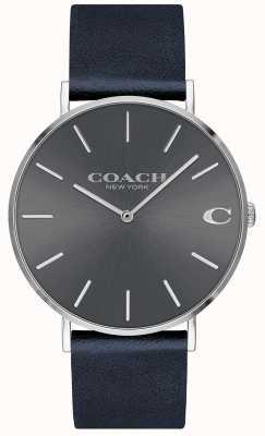 Coach Mens charles navy strap grey dial horloge 14602150
