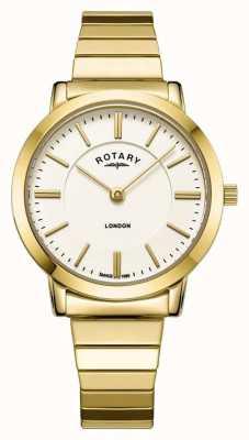 Rotary Goudkleurig roestvrijstalen armbandhorloge voor dames LB00766/03