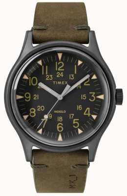Timex Heren mk1 sst chrono 40mm zwarte kast zwarte wijzerplaat olijf band TW2R97000