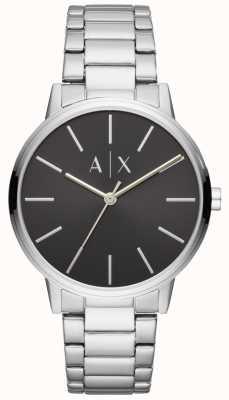 Armani Exchange Heren roestvrij stalen horloge zwarte wijzerplaat uitwisseling AX2700