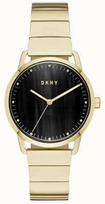 DKNY Dames zwarte wijzerplaat gouden armbandhorloge NY2756