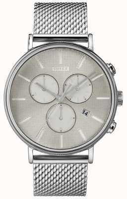 Timex Fairfield supernova chronograph silver mesh horloge TW2R97900D7PF