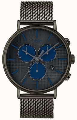 Timex Fairfield supernova chronograaf horloge grijze mesh band TW2R98000D7PF