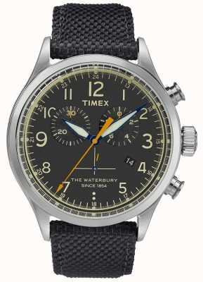 Timex Waterbury chronograaf roestvrij staal zwart horloge TWF3C8260UK