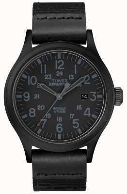 Timex Expeditie verkenner horloge zwarte stoffen riem TW4B14200D7PF