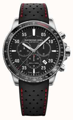 Raymond Weil Heren tango zwarte chronograaf rubberen band 8570-SR1-05207