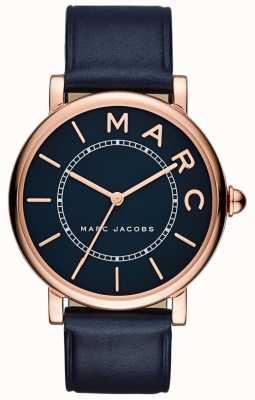 Marc Jacobs Dames marc jacobs klassiek horloge marine leer MJ1534