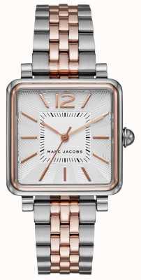 Marc Jacobs Womens vic watch tweekleurige armband vierkante wijzerplaat MJ3463