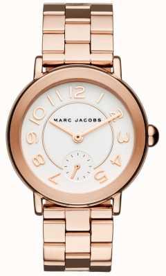 Marc Jacobs Riley-horloge voor dames roségoud MJ3471