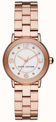 Marc Jacobs Riley-horloge voor dames roségoud MJ3474