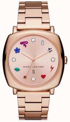 Marc Jacobs Dames mandy horloge rose goudkleur MJ3550