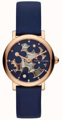 Marc Jacobs Dames marc jacobs klassiek horloge marine leer MJ1628