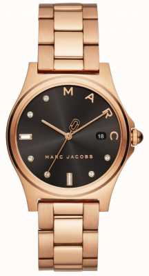 Marc Jacobs Dames Henry horloge rose goudkleur MJ3600