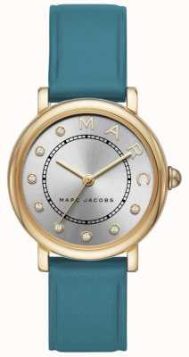 Marc Jacobs Dames marc jacobs klassiek horloge groenblauw leerr MJ1633