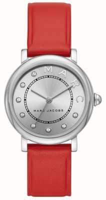 Marc Jacobs Dames marc jacobs klassiek horloge rood leer MJ1632