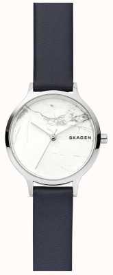 Skagen Horloge in wit lederen wijzerplaat met witte wijzerplaat SKW2719