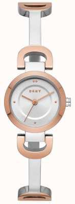 DKNY Dames stadslink roestvrij stalen armband horloge NY2749