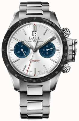 Ball Watch Company Ingenieur koolwaterstof racer chronograaf 42mm zilveren wijzerplaat CM2198C-S1CJ-SL