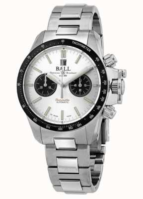 Ball Watch Company Engineer koolwaterstof racer chronograaf 42mm zilveren wijzerplaat CM2198C-S1CJ-SL