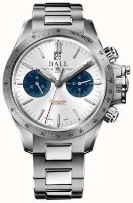 Ball Watch Company Engineer koolwaterstof racer chronograaf 42mm zilveren wijzerplaat CM2198C-S2CJ-SL