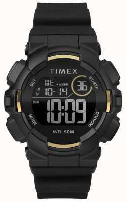 Timex Zwarte damesriem van 44 mm in zwart TW5M23600