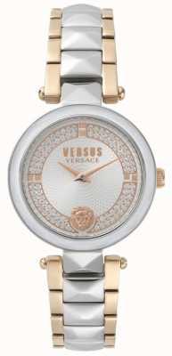 Versus Versace Dames covent garden tweekleurig kristallen horloge SPCD250017