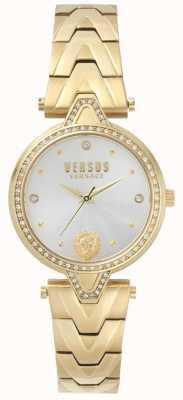 Versus Versace Womens v versus steen gouden wijzerplaat gouden pvd armband SPCI350017