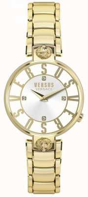 Versus Versace Dames kristenhof gouden wijzerplaat gouden pvd armband SP49060018