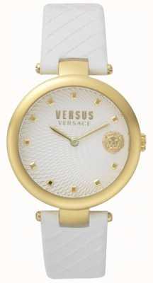 Versus Versace Witte wijzerplaat lederen witte band met witte wijzerplaat SP87020018