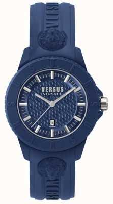 Versus Versace Tokyo r blauwe wijzerplaat blauwe siliconen SPOY210018