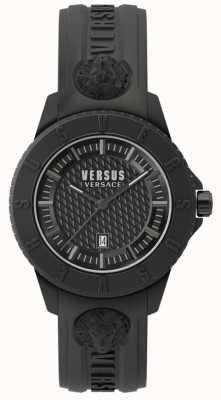 Versus Versace Tokyo r blackdial zwarte siliconen band SPOY230018