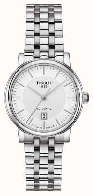 Tissot | carson automatische dame | roestvrij staal zilver | T1222071103100
