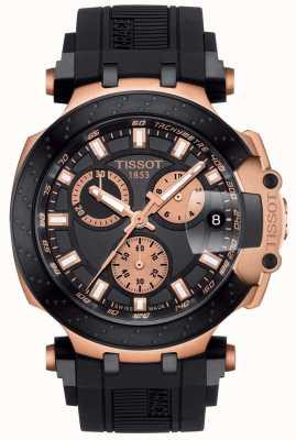 Tissot Heren t-race quartz chrono zwarte wijzerplaat vergulde accenten T1154173705100