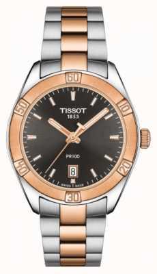 Tissot Pr 100 sport chic 36mm tweekleurige wijzerplaat, dames T1019102206100