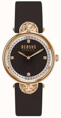 Versus Versace Victoriaanse damesriem met bordeauxrode lederen band SP33150018