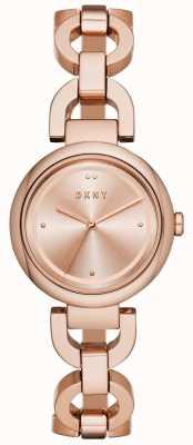 DKNY Oostkant dames rosé goud pvd verguld NY2769