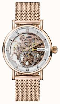 Ingersoll Heren heraut automatische rose goud pvd vergulde mesh armband I00406