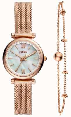 Fossil Fossiele dames carlie horloge cadeauset ES4443SET